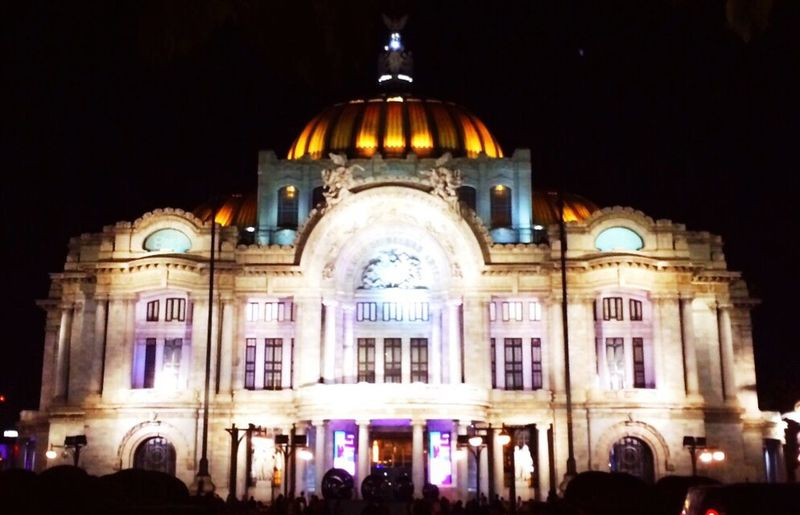 Ciudad De México Palacio De Bellas Artes  México De Noche Mexico City Palace Of Fine Artes México Of Night First Eyeem Photo