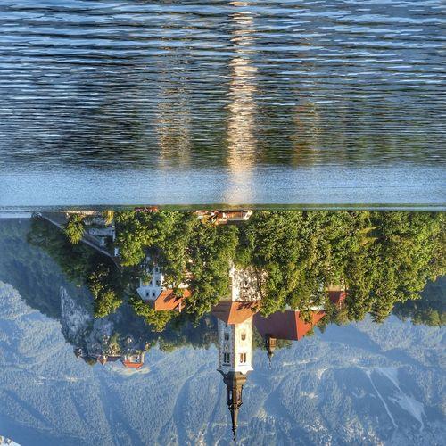 Water Reflection Slovenia Slovenia ❤ Bled Church Mirrorworld Bledlake Lakebled