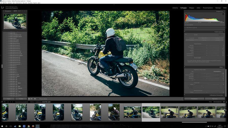 Editing today shoot VSCO Lightroom Sonya7rii Samyang 35mm F 2.8 Special Caferacer Moto Guzzi V7
