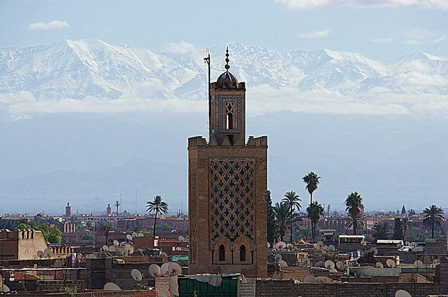 Architecture Astronomy City Clock Clock Tower Day History Marrakech Morocco Beauty Morroco Mountain Nature No People Outdoors Sky Skyscraper Sunset Tower Travel Destinations