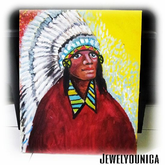 This Recently Completed! WIP :) INDiaN CHieF ;) ♥ Art ArtWork Artist Artists Painting Illustration Drawing Draw Sketch Sketching WorkOfArt Followart Indian Chief Indianchief Azteca Nativeamerican  Nativeamerica Culture Nativeamericans Acrylic Acrylics Acrylicpainting  Museum Barlimuseum museumbarli museumart artmuseum workinprogress