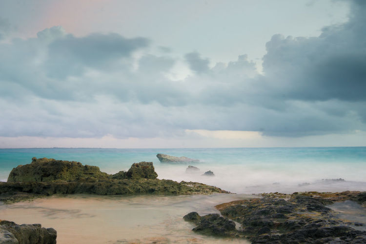 Sea Beach Horizon Over Water Nature No People Water Sky Beauty In Nature Outdoors Tranquility Sunrise_sunsets_aroundworld Sunrise Cancun Sony A6000 Sonyphotography Sony α♡Love Travel Destinations Tourism