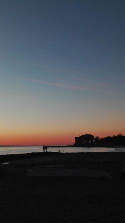 Scenics Nature Beach Sea Silhouette Tranquility Outdoors Sunset Water Tramonto, Pesca, Pescatori, Ladispoli, Pesca Al Tramonto, Cloud - Sky Cielo Clouds And Sky Cielo E Nuvole Clouds Mare Tramonto Castello Odescalchi