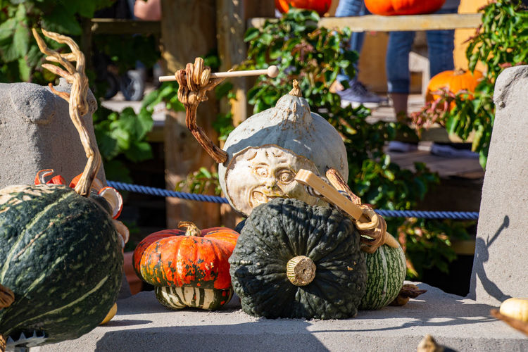 Sculpture of pumpkins