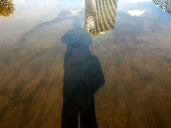 The Architect - 2016 EyeEm Awards Reflection Shadow Puddle Reflections Puddle Architecture City View  Urbanandstreet Light And Shadow Shadows & Lights Reflections In The Water Peopleinframe Self Portrait Sky And City Wanderer Goexplore Creative Light And Shadow Jakarta Indonesia The Magic Mission Mix Yourself A Good Time