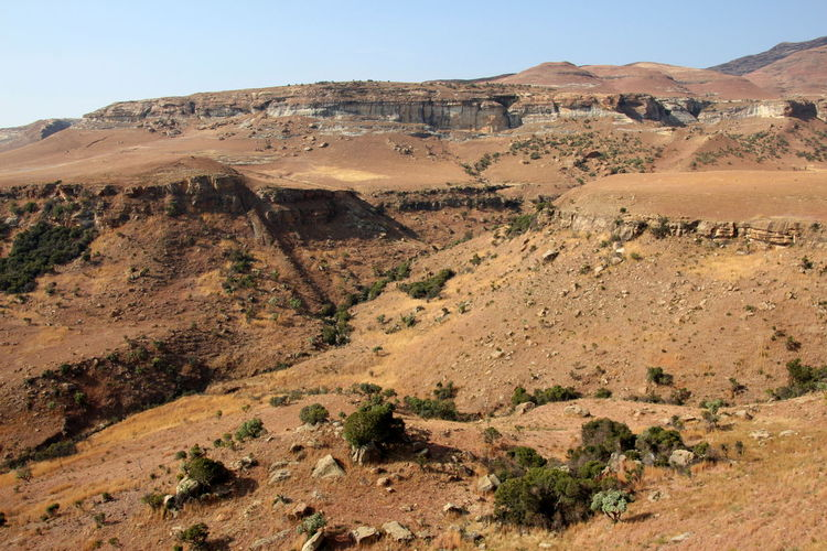 Lesotho Lesotho Environment Landscape Scenics - Nature Mountain Tranquil Scene Nature Sky Tranquility Land Non-urban Scene Rock Climate No People Beauty In Nature Desert Mountain Range Rock Formation Physical Geography Arid Climate Day Outdoors Formation