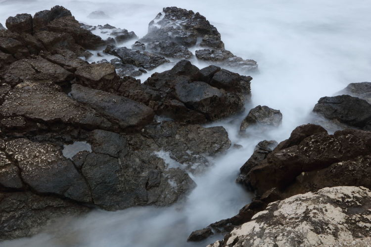 Rock Solid Rock - Object Beauty In Nature Water Scenics - Nature No People Nature Motion Rock Formation Geology Sea Long Exposure Tranquility Outdoors Land Non-urban Scene Power In Nature Flowing Water Apulia Italy Italia Puglia Giovinazzo
