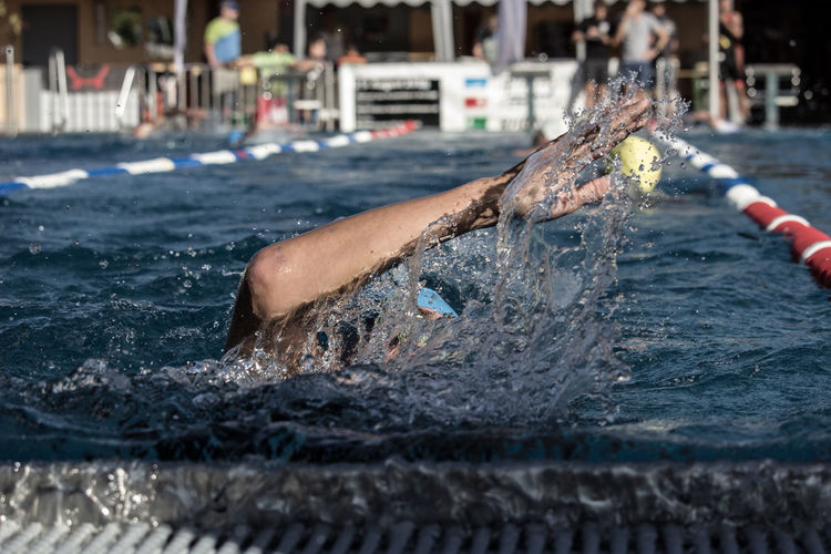 TRIATHLON Close-up Day Focus On Foreground Motion Real People Sea Selective Focus Swimming Swimming Pool Water Waterfront