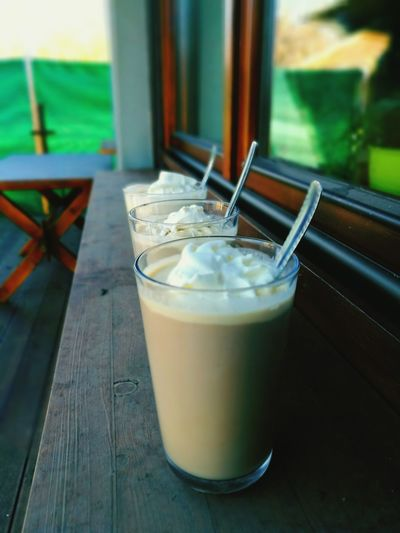 Drink Drinking Glass Latte Cold Temperature