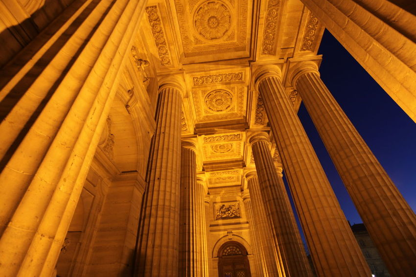 Architectural Column Architecture Blue Sky Church Column Eglise Saint Sulpice Famous Place Old Orange Paris ParisByNight