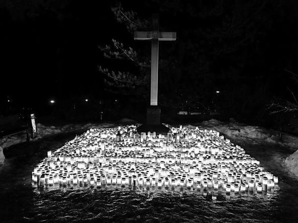 Spirituality My Year My View Outdoors Graveyard Candlelight No People To Those Who Passed Away To My Friends Silent Moment Silence Blackandwhitephotography Monochrome Huaweip9monochrome Huaweip9photos Huawei P9 Night Shot HuaweiP9leica Huawei p9 Kuopio Finland♥