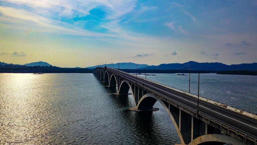 Bridge Water Sky Bridge Connection Bridge - Man Made Structure Cloud - Sky Transportation