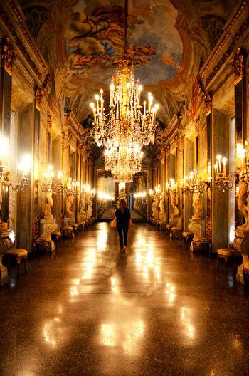Galleria Gallery Genes Genova Gold Light Luci Mirror Palace Palazzo Palazzoreale Reflections Rolliday Specchio