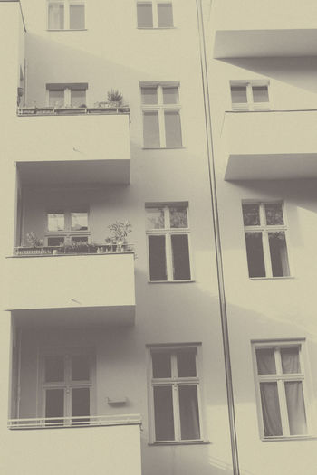 Apartment Architecture Balcony Building Building Exterior Exterior House Living Outdoors Poor  Sparse Vintage Window