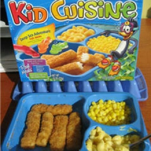 Lol if you're a 90s kid, then you oughta remember eatin these Kidcuisine Fishsticks Macandcheese Corn 90sfood 90sbaby lol TagsForLikes childhoodmemories foodpic foodporn foodgasm
