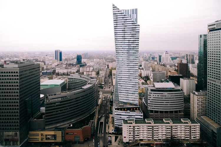 City Cityscape City Life Cityscapes Architecture Building Exterior Skyscraper Modern Built Structure Outdoors Urban Skyline Sky Skyline Architecture Architectural Feature Warsaw Warszawa  View View From Above