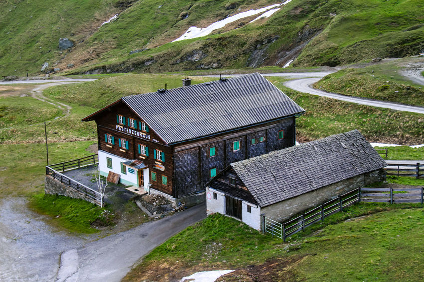 Grossglockner Alps Austria Architecture Building Exterior Built Structure Day House Landscape Mountain Mountain Shelter Nature No People Outdoors Roof Solar Panel Water