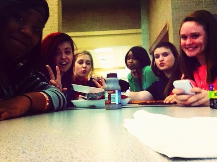 We were being stupid at lunch today