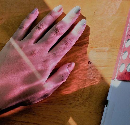 Human Hand Palm Close-up