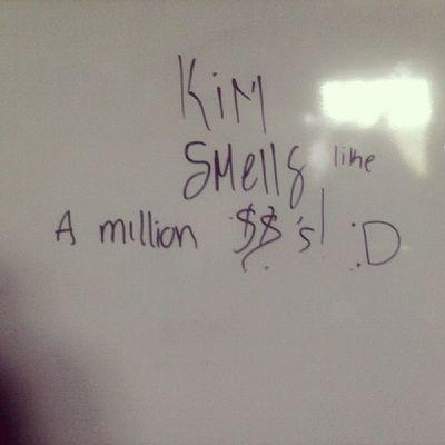 "It originally said 'Kim smells like A$$"" But autocorrect happened. Littlebrother Cute Mygoodmorning Autocorrect berrinchuda headfuck idgasf"
