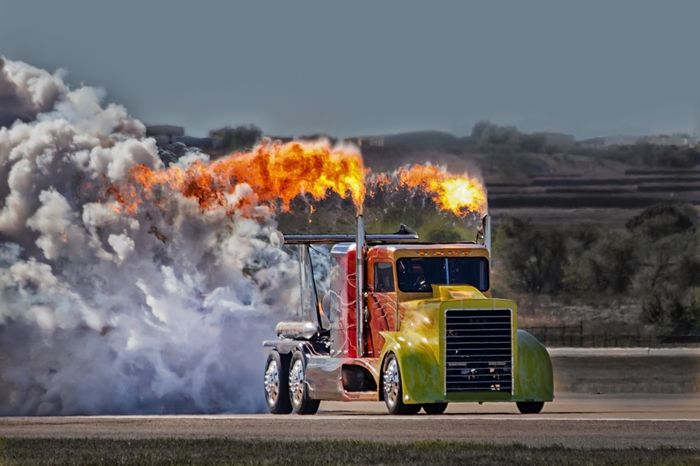 Top fuel jet truck Smoke - Physical Structure Flame Burning Accidents And Disasters Transportation Heat - Temperature Danger Firefighter Rescue Outdoors Day Real People Spraying Fire Engine Sky People Top Fuel Truck Speed Fastandfurious USA Dragster Fast