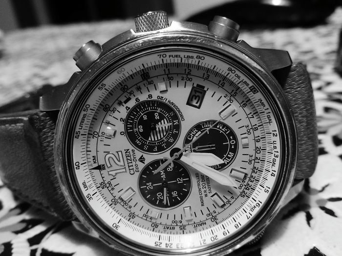 Citizenwatch Mywatch Blackandwhite Photography No People Ecodrive Close Up Technology
