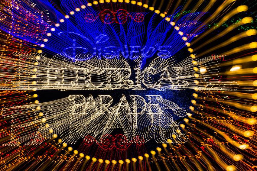 Electrical Parade Magic Kindom Disney Walt Disney World LED Night Long Exposure Light Painting