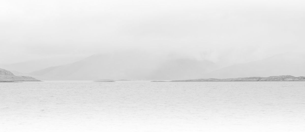 B&w Black & White Fog High Key Hills Idyllic Lake Lake View Landscape Loch  Loch Linnhe Mountain Mountain Range Nature Non-urban Scene Scenics Sky Tranquil Scene Tranquility Water Waterfront Weather