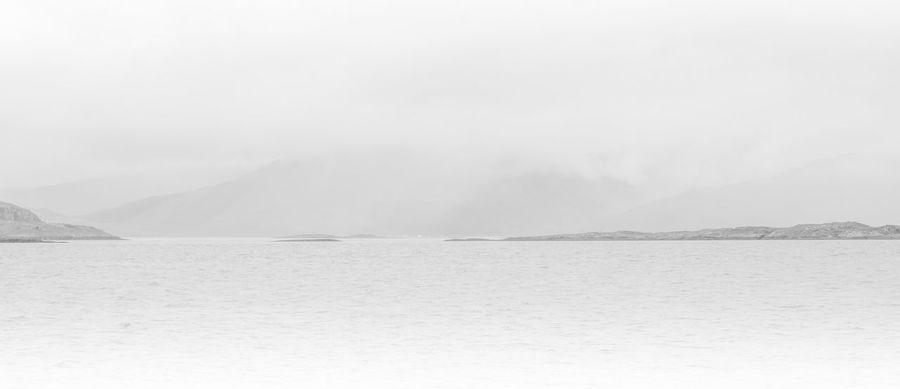B&w Black & White Fog High Key Hills Idyllic Lake Lake View Landscape Loch  Loch Linnhe Mountain Mountain Range Nature Non-urban Scene Scenics Sky Tranquil Scene Tranquility Water Waterfront Weather