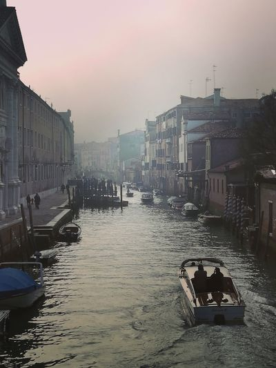 Cityscape Venice View Low Angle View Architecture Bridge - Man Made Structure Travel Destinaton Outdoors Architecture Fog