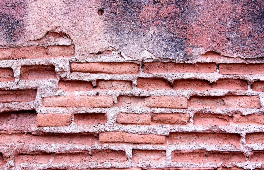 Red color brick wall with rupture in Thailand Wall Wall Background Red Brick Wall Brick Autumn Summer Home Old Wall Red Wall Structure Thailand Brick Background Healthcare Stone Cement Backgrounds Full Frame Pattern Textured  Weathered Paint Close-up Day Rough No People Architecture Built Structure Indoors  Ink