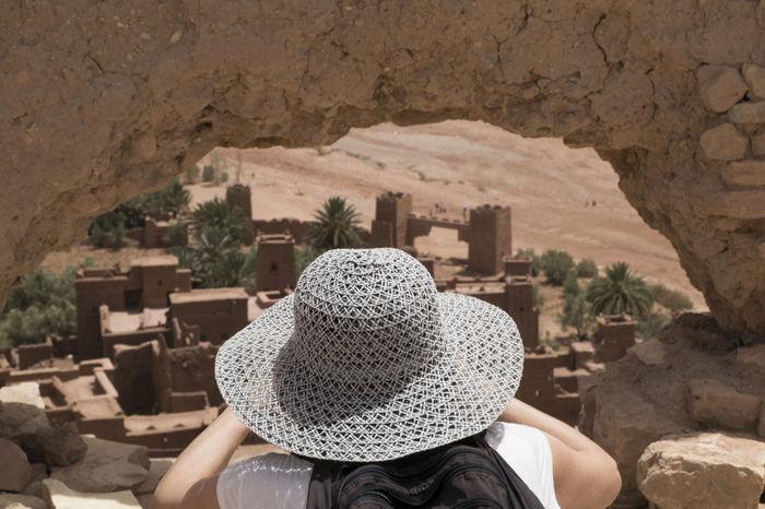 vista de la kasba Ancient Ancient Civilization Ancient History Kasbah Ait Ben Haddou Morocco Outdoors Travel Women Fresh On Market 2017