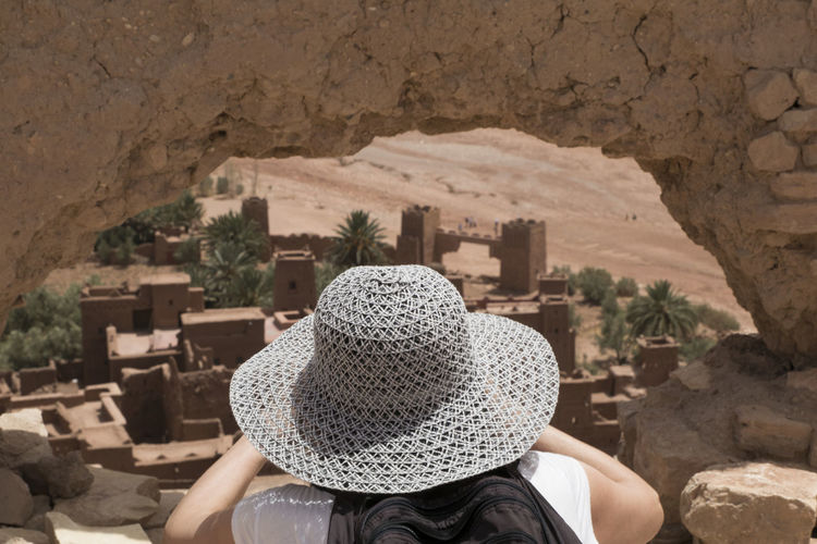 vista de la kasba Ancient Ancient Civilization Ancient History Kasbah Ait Ben Haddou Morocco Outdoors Travel Women Fresh On Market 2017