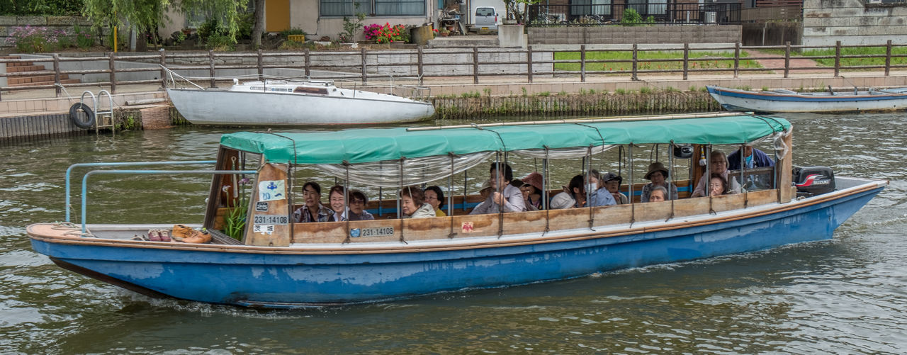 Local boatmen with tourist sightseeing in Itako, Japan Attraction Boat Boat Ride Boatman Canal Culture Custom Day Itako Japan Mode Of Transport Nautical Vessel River Tourism Tourist Destination Traditional Transportation Water Waterfront Waterway Wooden