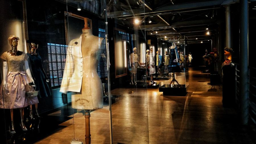 Museum Fashion Dior Paco Rabanne Nina Ricci Coco Chanel History Fashion Photography Flowee Construction Multi Colored Little Miracles Hanging Store Coathanger Business Finance And Industry Clothing Store Boutique Clothes Rack Department Store Mannequin Window Shopping