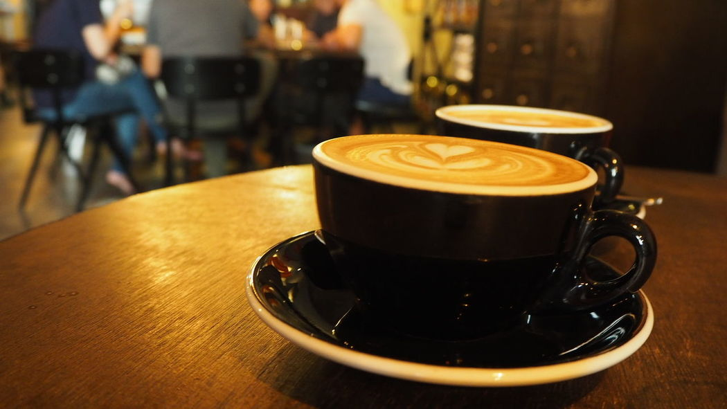 Coffee is a must to made my day Flatwhite Flatwhitecoffee Coffee Coffee Cup Coffelover Coffeelovers Coffee Time Coffeecup Coffeecups Singapore Clarke Quay Ronin Coffee - Drink Drink Table Coffee Cup Cafe Food And Drink Refreshment Cappuccino Indoors  Close-up Focus On Foreground Frothy Drink