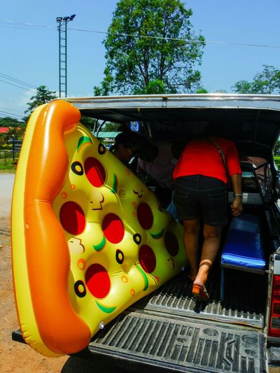 Delivery! Pizza Big Slice Delivery Fast Food Floatie Pizza Floatie Pizza Slice Funny Odd Unique Summer Summertime Summer Vibes To The Beach Thailand