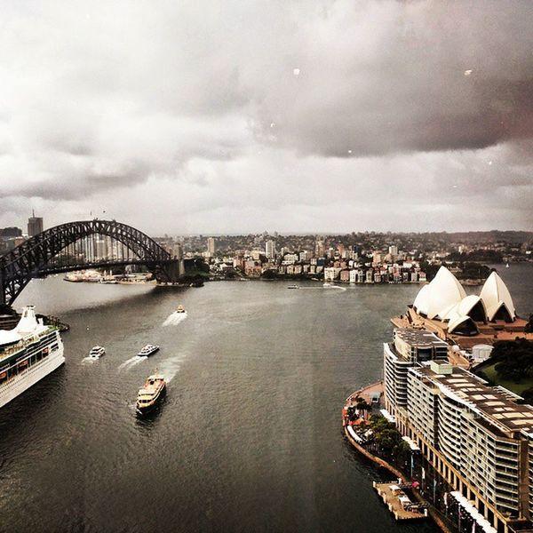 Dramatic Cloud Clouds SydneyHarbourBridge Sydneyharbour operahouse sydney nsw australia sky rainy skyline