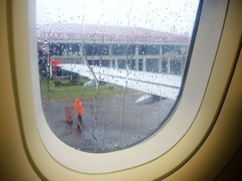 Drops of rain on the airplane window. Airplane Airport Bubble Condensation Drop Glass - Material Indoors  Land Vehicle Nature Public Transportation Rain RainDrop Rainy Season Terminal Transparent Transportation Travel Vehicle Interior Water Wet Window