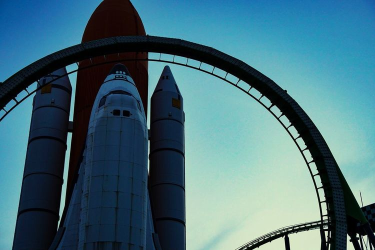 Blue Low Angle View Built Structure Architecture No People Day Clear Sky Factory Outdoors Sky Space SpaceShip Jetcoster