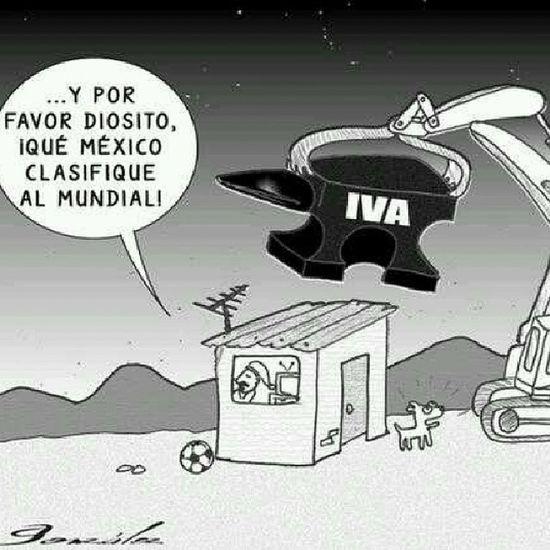 Es lamentable esto en nuestro país, cegados por la ignorancia. Mexico Mundial Futbol Iva peñaNoesMiPresidente reformas