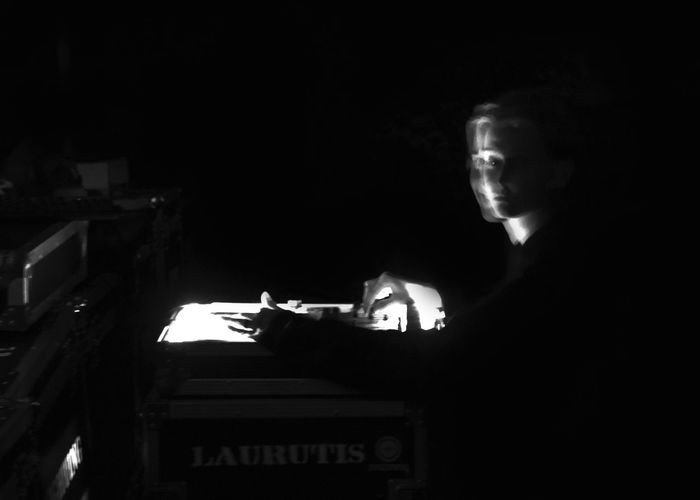 LAURUTIS Black & White Controler Dark Lights Controler Lights In The Dark Music Musician Night Nightlife One Person Performance Playing Stage