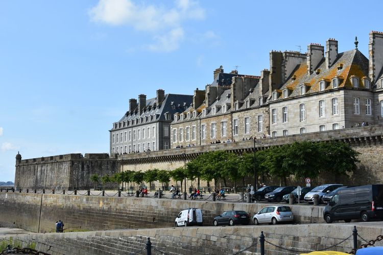 France Architecture Building Building Exterior Built Structure Car City Day History Land Vehicle Mode Of Transportation Motor Vehicle Nature Outdoors Road Sky St Malo Street The Past Transportation Travel Travel Destinations