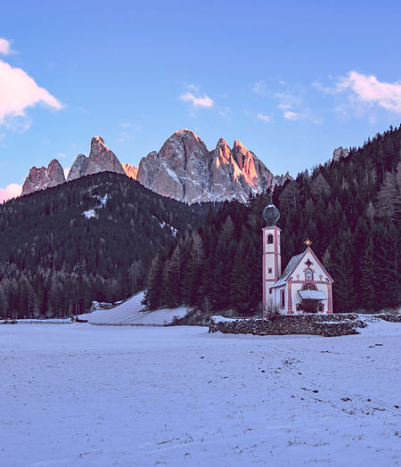 Oh, mountains! Snow Mountain Mountain Range Landscape Travel Cold Temperature Winter History Travel Destinations Mountain Peak Outdoors Architecture Sky Day Nature in Val Di Funes Trentino Alto Adige Alto Adige Südtirol Odle