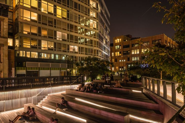 Architecture Building Exterior Cities At Night City City Life Cityscape High Line Park Illuminated Modern New York New York At Night New York Skyline  Night NYC Outdoors Sky USA USAtrip The Architect - 2016 EyeEm Awards