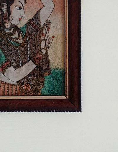 No People Indoors  Close-up Wall Painting Traditional Wallhanging Edge Woood Woodenframe Day Smartphonephotography Motog3