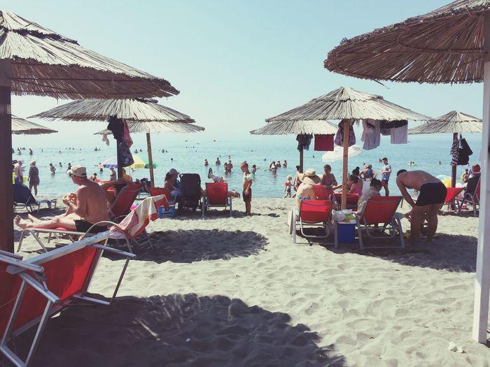 Large Group Of People Beach Umbrella Tourist Beach Enjoyment Velipoje ❤️ Albania 👐🏼