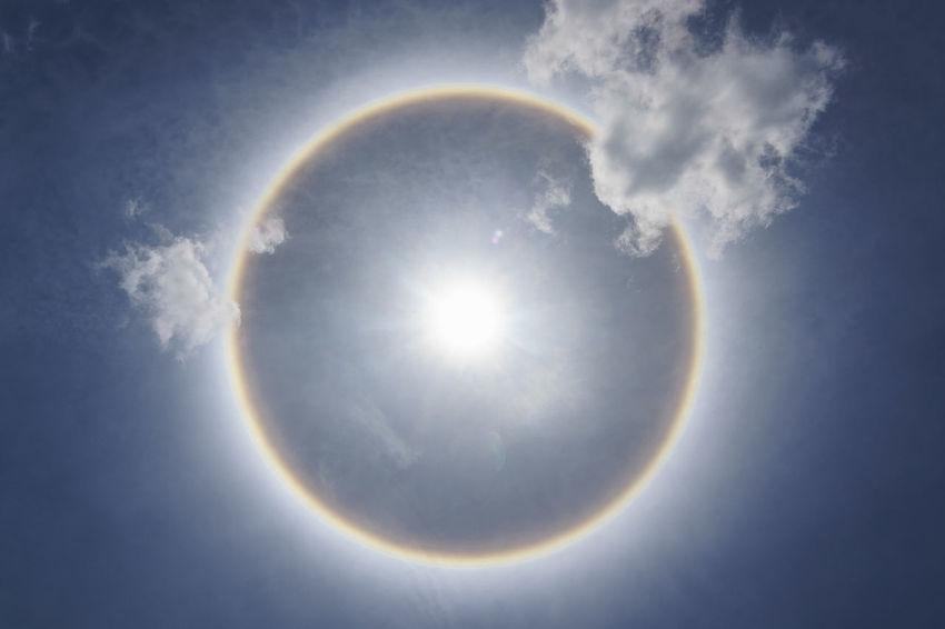 Hello Halo. No People Planet Earth Rainbow Day Halo Halo Around The Sun Halo Effect Halosolar Sun ☀ Sun