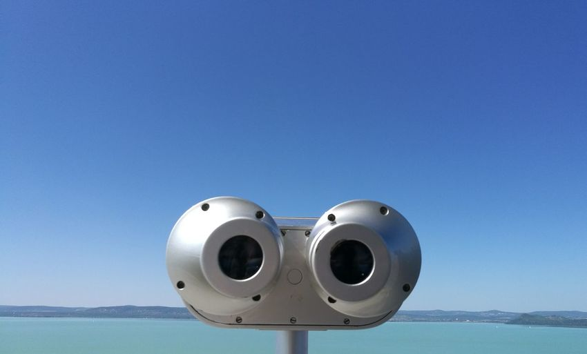 Binoculars Silver Colored Coin-operated Binoculars Day No People Close-up Anthropomorphic Face Sky Belvedere Looking At Camera Look-out Tower Lake Balaton Balaton - Hungary Balatonföldvár Silver  Silver - Metal Metal Eyes Wall-e Robot Robots Objects Object Photography Outdoors Outdoor Photography Summer Exploratorium Visual Creativity The Still Life Photographer - 2018 EyeEm Awards
