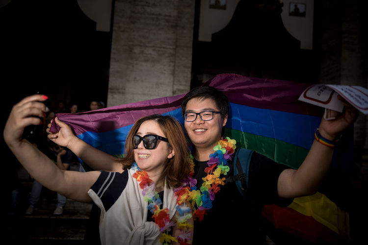 PRIDE Togetherness The Portraitist - 2019 EyeEm Awards The Street Photographer - 2019 EyeEm Awards My Best Photo Funny Faces Funny Lovewins Photojournalism Asian Girl Loveislove Lgbt Pride Lgbt Festival Street Photography Street Streetphotography Rome Love Homosexual Love Prideparade Pride Gaypride Gay Multi Colored Rainbow Colors Beautiful Woman Mobile Phone People Fashion Communication Indoors  Emotion Women Glasses Wireless Technology Looking At Camera Lifestyles Portrait Leisure Activity Real People Front View Happiness Young Women Young Adult Smiling NotYourCliche